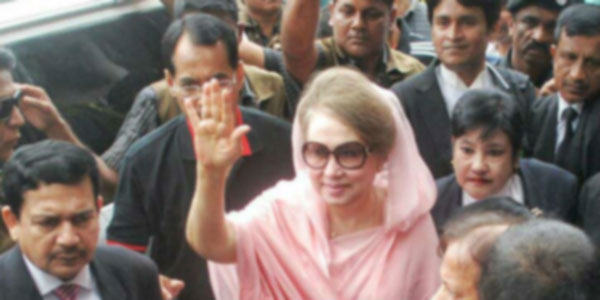 khaleda zia on court for case of zia charitable trust