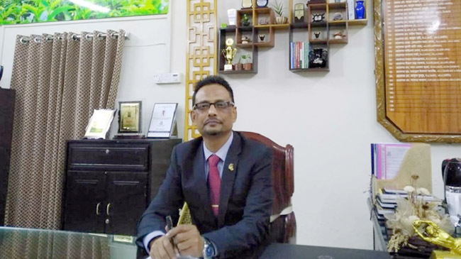 mc college principal saleh ahmed