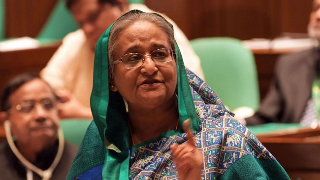 pm hasina in perlament