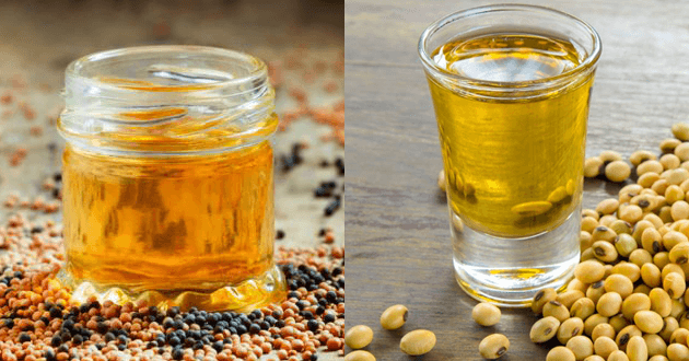 mustard and soybean oil