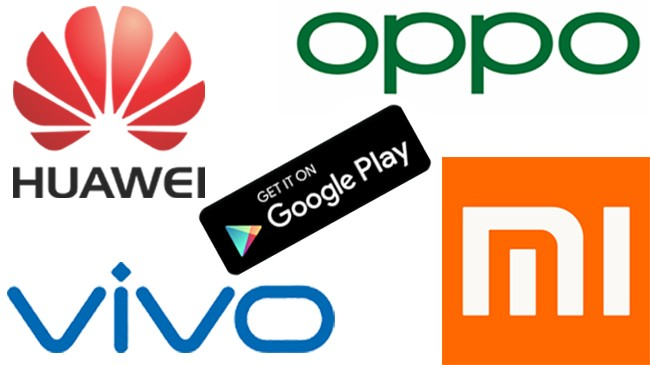 china smartphone gaint and google play store