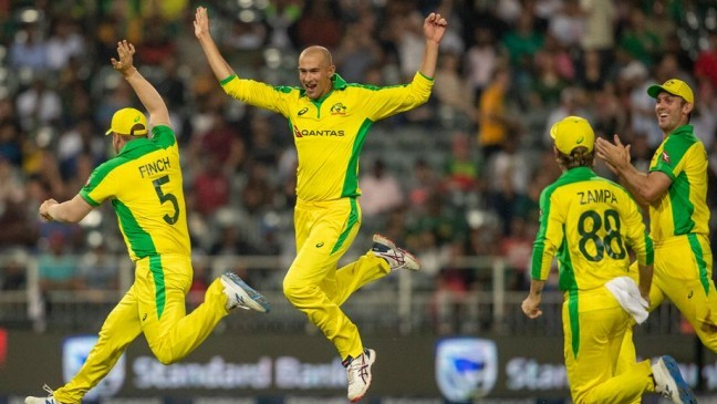ashton agar took a hat trick