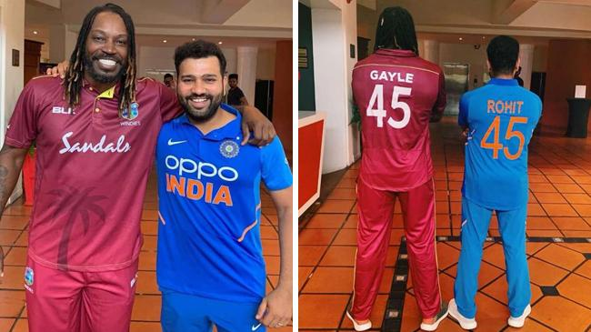 chris gayle and rohit sharma