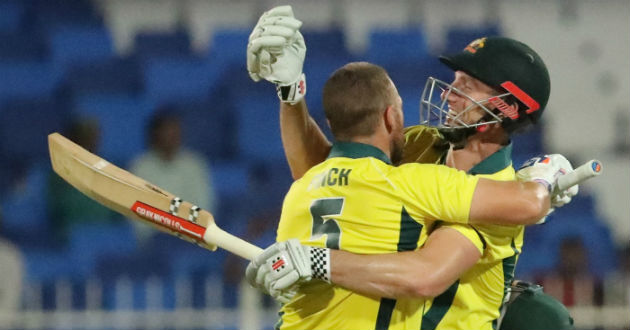 finch and shaun marsh put on 172 for the second wicket