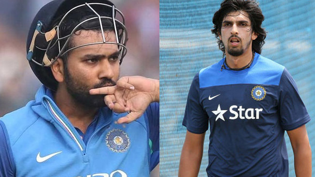 rohit sharma and ishant sharma