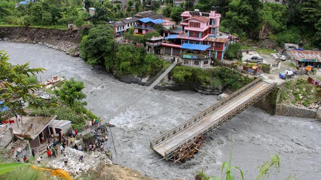 floods landslides in nepal