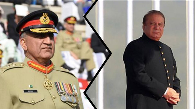 qamar javed bajwa nawaz sharif