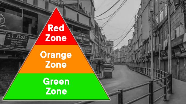 red green orange zone
