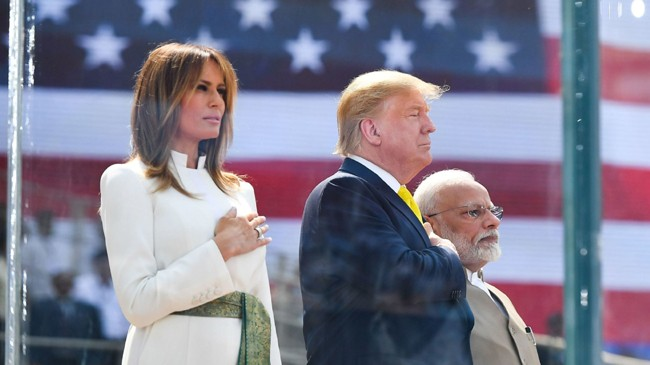trump talks about ddlj and sholey