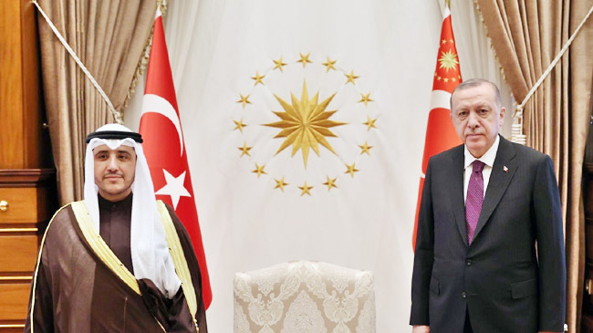 turkey president and kuwait foreign minister