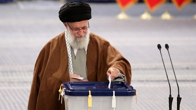 voting is underway in iran parliamentary elections